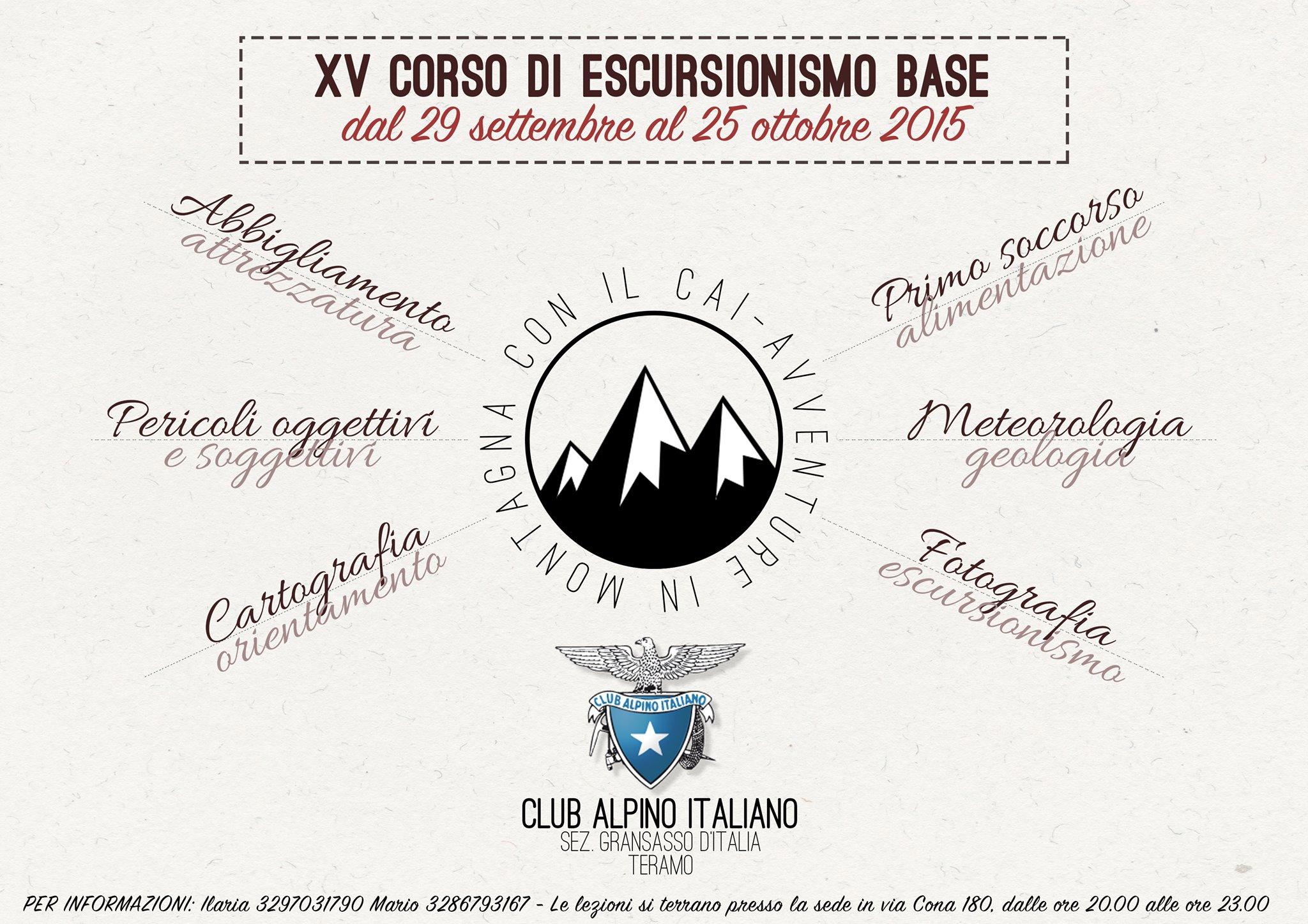 XV Corso base di escursionismo